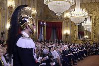 Roma, 7 Marzo 2015<br /> Quirinale.<br /> Giornata internazionale dela donna, <br /> celebrazione dedicata al tema &quot;Donne per la Terra&quot;.<br /> Nalla foto le alte cariche dello Stato