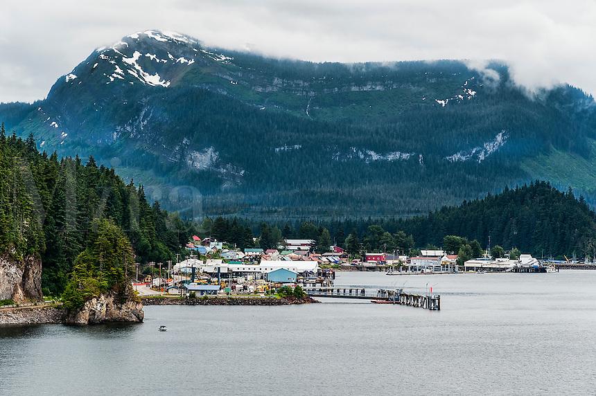 The Tinget town of Hoonah, Chichagof Island, Icy Strait, Alaska, USA