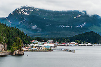 The Tinget town of Hoonah, Chichagof Island, Icy Strait, Alaska, USA