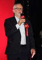 Labour Party Leader Jeremy Corbyn delivers a speech on the final day of general election campaigning at Addison Howard Centre, Kempston, Bedford, UK on 11th December 2019.<br /> <br /> Photo by Keith Mayhew