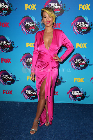 LOS ANGELES, CA - AUGUST 13: Rita Ora at  the Teen Choice Awards 2017 at Galen Center on August 13, 2017 in Los Angeles, California. Credit: Faye Sadou/MediaPunch