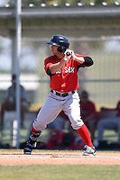 Boston Red Sox Forrestt Allday (35) during a minor league spring training game against the Baltimore Orioles on March 20, 2015 at Buck O'Neil Complex in Sarasota, Florida.  (Mike Janes/Four Seam Images)