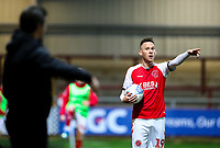 Fleetwood Town's Gethin Jones<br /> <br /> Photographer Alex Dodd/CameraSport<br /> <br /> The EFL Checkatrade Trophy - Northern Group B - Fleetwood Town v Leicester City U21 - Tuesday September 11th 2018 - Highbury Stadium - Fleetwood<br />  <br /> World Copyright &copy; 2018 CameraSport. All rights reserved. 43 Linden Ave. Countesthorpe. Leicester. England. LE8 5PG - Tel: +44 (0) 116 277 4147 - admin@camerasport.com - www.camerasport.com