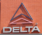 Delta World Headquarters in Atlanta, Georgia on Friday September 30, 2005. The Atlanta based airlines filed for bankruptcy on Wednesday September 14, 2005, citing rising fuel costs $60 - $70 per barrel) and high cost structures in a low-fare world. Photo by Jane Therese/Sipa