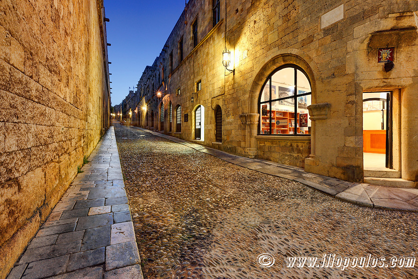 The Street of the Knights in Rhodes Greece is one of the best preserved and impressive medieval monuments in the world.