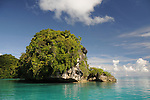 Palau, Micronesia -- Palauan waters near the Milky Way Lagoon.