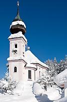 Deutschland, Bayern, Oberbayern, Berchtesgadener Land, Maria Gern Wallfahrtskirche bei Berchtesgaden | Germany, Upper Bavaria, Berchtesgadener Land, Maria Gern pilgrimage church near Berchtesgaden