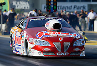 May 18, 2012; Topeka, KS, USA: NHRA pro stock driver Greg Anderson during qualifying for the Summer Nationals at Heartland Park Topeka. Mandatory Credit: Mark J. Rebilas-