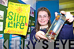 SLIM4LIFE: Student Emma Walsh from Colaiste na Sceilge Secondary School, Caherciveen examines the theory Will cockroaches eat white bread if there's something else available at SciFest in the ITT.