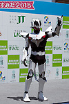 Shinagawa City mascot character Krayverz performs during the ''Local Characters Festival in Sumida 2015'' on May 30, 2015, Tokyo, Japan. The festival is held by Sumida ward, Tokyo Skytree town, the local shopping street and ''Welcome Sumida'' Tourism Office. Approximately 90 characters attended the festival. According to the organizers the event attracts more than 120,000 people every year. The event is held form May 30 to 31. (Photo by Rodrigo Reyes Marin/AFLO)