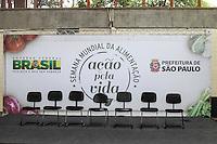 SAO PAULO, SP, 29.10.2013 - COMBATE A FOME SP - Cerimônia pelo ato de adesão de SP ao Programa de Aquisição de Alimentos - Combate a fome. Em 29/10/13, na Vila Maria, SP/SP. O prefeito Fernando Haddad, que estava confirmado no evento conforme sua agenda oficial nao compareceu. Foto: GeovaniVelasquez/Brazil Photo Press