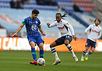 8th February 2020; DW Stadium, Wigan, Greater Manchester, Lancashire, England; English Championship Football, Wigan Athletic versus Preston North End; Sam Morsy of Wigan Athletic competes for the ball with Daniel Johnson of Preston North End
