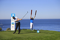Chris Stroud (USA) tees off the 4th tee at Spyglass Hill during Thursday's Round 1 of the 2018 AT&amp;T Pebble Beach Pro-Am, held over 3 courses Pebble Beach, Spyglass Hill and Monterey, California, USA. 8th February 2018.<br /> Picture: Eoin Clarke | Golffile<br /> <br /> <br /> All photos usage must carry mandatory copyright credit (&copy; Golffile | Eoin Clarke)