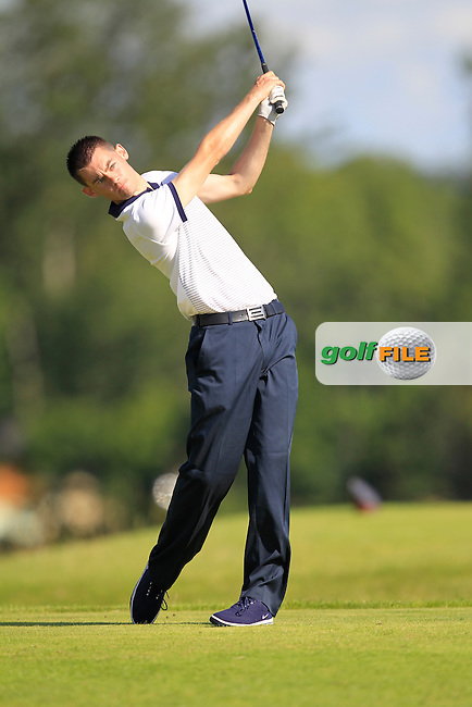 David Reilly (Westmanstown) on the 6th tee during the Johnston Mooney &amp; O'Brien PGA Challenge Round 1 at Carton House Golf Club  7th August 2013 <br /> Picture:  Thos Caffrey / www.golffile.ie