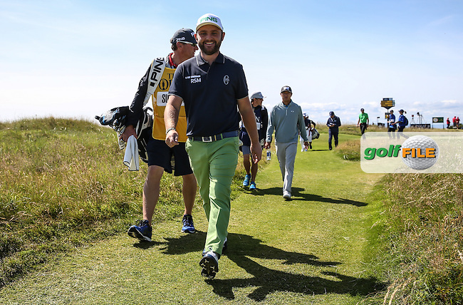 Andy Sullivan (ENG) heading off to the 4th during Round One of the 145th Open Championship, played at Royal Troon Golf Club, Troon, Scotland. 14/07/2016. Picture: David Lloyd | Golffile.<br /> <br /> All photos usage must carry mandatory copyright credit (&copy; Golffile | David Lloyd)