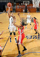 Florida International University forward Diamond Ashmore (13) plays against Western Kentucky University.  FIU won the game 60-56 on January 28, 2012 at Miami, Florida. .