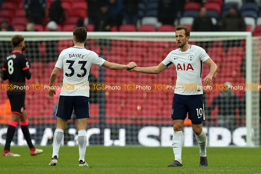 Ben Davies and Harry Kane of Tottenham Hotspur after Tottenham Hotspur vs Huddersfield Town, Premier League Football at Wembley Stadium on 3rd March 2018