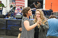 Photo of the Spring Fest pre show in Rush Gymnasium, April 9, 2016. Oxy student bands perform live as students enjoy the beer garden, food, and games. (Photo by Nick Harrington, Occidental College Class of 2017)