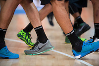 VALENCIA, SPAIN - OCTOBER 18: Shoes during ENDESA LEAGUE match between Valencia Basket Club and FIATC Joventut at Fonteta Stadium on October 18, 2015 in Valencia, Spain