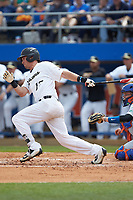 Keegan Maronpot (13) of the Wake Forest Demon Deacons follows through on his swing against the Florida Gators in Game Two of the Gainesville Super Regional of the 2017 College World Series at Alfred McKethan Stadium at Perry Field on June 11, 2017 in Gainesville, Florida.  (Brian Westerholt/Four Seam Images)