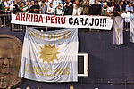 June 04 2008:  Supporters banner for Peru during the Argentina vs Mexico match.  During Mexico's 2008 USA Tour in preparation for qualification for FIFA's 2010 World Cup, the national soccer team of Mexico was defeated by Argentina 1-4 at Qualcomm Stadium, in San Diego, CA.