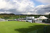 Trainingsplatz des Sportzentrum Rungg in Eppan. Dort ist die Heimat des FC Südtirol und bildet das Trainingszentrum der Deutschen Nationalmannschaft während der WM-Vorbereitung. - 18.05.2018: Trainingslager der Deutschen Nationalmannschaft zur WM-Vorbereitung in Eppan/Südtirol