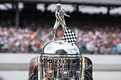 May 28th Indianapolis Speedway, Indiana, USA;  The Borg Waner Trophy sitting on pit lane prior to the 101st Indianapolis 500 on May 28, 2017, at the Indianapolis Motor Speedway in Indianapolis, Indiana.