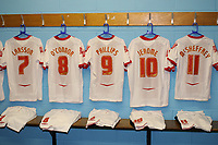 Sebastian Larsson, Garry O'Connor, Kevin Phillips, Cameron Jerome and Gary McSheffrey of Birmingham City  have their shirts hung up in the away dressing room ahead of kick-off during Wycombe Wanderers vs Birmingham City, Carling Cup Football at Adams Park on 13th August 2008