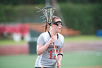 The Occidental College Women's Lacrosse team plays against Whittier on Saturday, February 27, 2010 at Patterson Field. This is the first home game for Oxy's new team, which is the first women's NCAA lacrosse team in Oxy's history. Whittier won, 16-12. (Photo by Marc Campos, Occidental College)
