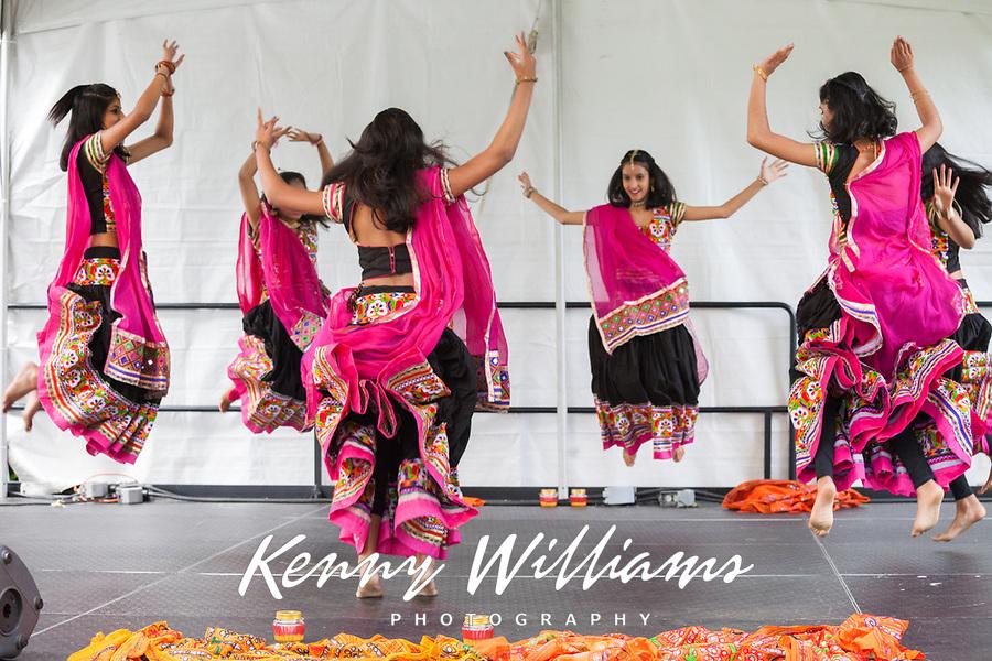 Indian Folk Dancers, NW Folklife Festival, Seattle, WA, USA.