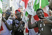 - Milano, 28 agosto 2018 , manifestazione antifascista ed antirazzista convocata da numerosi partiti ed organizzazioni di sinistra e democratiche in occasione dell'inconro in prefettura di matteo Salvini, ministro dell'interno e leader del partito di destra Lega con  il premier ungherese Viktor Orban<br />