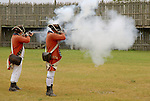 musket demonstration fort michilimackinac