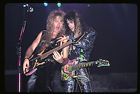 Adrian Vandenberg and Steve Vai of Whitesnake performs UNO in New Orleans Louisiana, USA