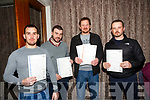 At the Kerry ETB  Graduations in the rose Hotel on Thursday were Wind Turbine Students l-r John McLoughlin, Ciaran McMonagle, Mark Tracey and Brendan Lawless