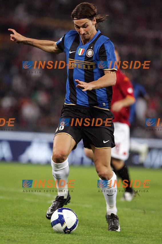 Secondo Gol di Zlatan Ibrahimovic (Inter)<br /> Roma vs Inter 0-4<br /> Campionato di Calcio Serie A.<br /> Stadio Olimpico, Roma, 19/10/2008.<br /> Photo Antonietta Baldassarre Inside