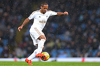 Wayne Routledge during the Barclays Premier League Match between Manchester City and Swansea City played at the Etihad Stadium, Manchester on 12th December 2015
