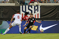 Jacksonville, FL - September 6, 2016: The U.S. Men's National team defeat Trinidad & Tobago 4-0 with Paul Arriola contributing a goal during a World Cup Qualifier (WCQ) match at EverBank Field.