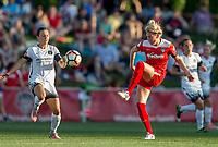 Boyds, MD. - Saturday, June 24 2017:  Hayley Raso, Kassey Kallman during a regular season National Women's Soccer League (NWSL) match between the Washington Spirit and the Portland Thorns FC at Maureen Hendricks Field, Maryland SoccerPlex.<br />  The Washington Spirit defeated the Portland Thorns FC 1-0.