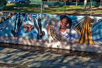 """Zoot Suit Riots"" ""Luisa Moreno"" Great Wall Mural, Loa Angeles, CA, Mural, Tujunga Wash, Sub Watershed, LA River, San Fernando Valley, Los Angeles, CA"