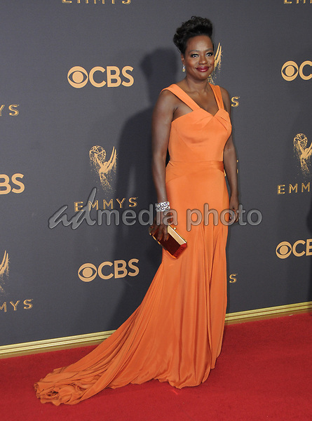 17 September  2017 - Los Angeles, California - Viola Davis. 69th Annual Primetime Emmy Awards - Arrivals held at Microsoft Theater in Los Angeles. Photo Credit: Birdie Thompson/AdMedia