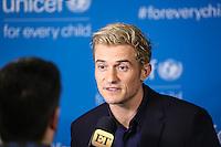 NEW YORK, NY, 12.12.2016 - ONU-UNICEF - O ator ingles Orlando Bloom durante tapete vermelho do 70º aniversário da UNICEF (Fundo das Nações Unidas para a Infância) na sede da Nações Unidas em New York os Estados Unidos nesta segunda-feira, 12. (Foto: Vanessa Carvalho/Brazil Photo Press)