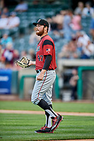 Sacramento River Cats starting pitcher Matt Gage (47) during the game against the Salt Lake Bees  at Smith's Ballpark on May 17, 2018 in Salt Lake City, Utah. Salt Lake defeated Sacramento 12-11. (Stephen Smith/Four Seam Images)