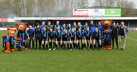 20180414 - AALTER , BELGIUM : Brugge's team pictured during the 21st matchday in the 2e Nationale Women's league , a womensoccer game between Club Brugge Dames and GFA Sinaai , in Aalter , saturday 15 th April 2018 . PHOTO SPORTPIX.BE | DAVID CATRY