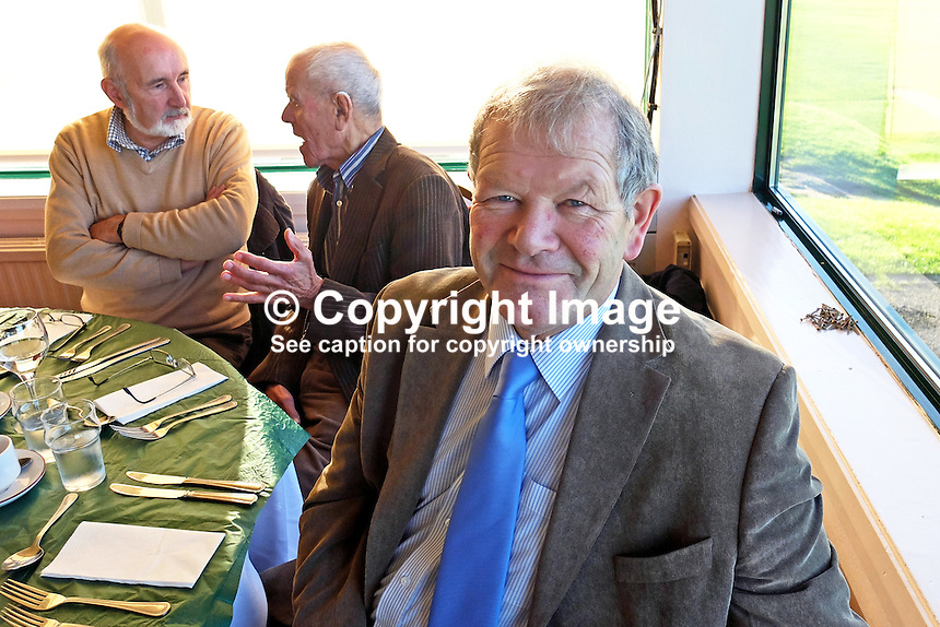 Ted Boyd, Donaghadee, Co Down, N Ireland, lunch, DGC, 23rd November 2014. 201411230080<br /> <br /> Copyright Image from Victor Patterson, 54 Dorchester Park, Belfast, UK, BT9 6RJ<br /> <br /> t: +44 28 9066 1296<br /> m: +44 7802 353836<br /> vm +44 20 8816 7153<br /> <br /> e1: victorpatterson@me.com<br /> e2: victorpatterson@gmail.com<br /> <br /> www.victorpatterson.com<br /> <br /> IMPORTANT: Please see my Terms and Conditions of Use at www.victorpatterson.com
