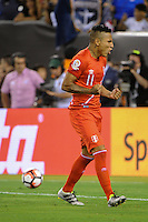 East Rutherford, NJ - Friday June 17, 2016: Raul Ruidiaz during a Copa America Centenario quarterfinal match between Peru (PER) vs Colombia (COL) at MetLife Stadium.