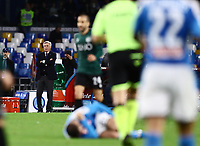 1st December 2019; Stadio San Paolo, Naples, Campania, Italy; Serie A Football, Napoli versus Bologna; Manager of Napoli, Carlo Ancelotti watches as play is stopped for a injury to his player - Editorial Use