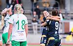 ***BETALBILD***  <br /> Stockholm 2015-09-27 Fotboll Damallsvenskan Hammarby IF DFF - FC Roseng&aring;rd :  <br /> Roseng&aring;rds Alexandra Riley firar sitt 1-0 m&aring;l med Natasa Andonova under matchen mellan Hammarby IF DFF och FC Roseng&aring;rd <br /> (Foto: Kenta J&ouml;nsson) Nyckelord:  Fotboll Damallsvenskan Dam Damer Zinkensdamms IP Zinkensdamm Zinken Hammarby HIF Bajen FC Roseng&aring;rd jubel gl&auml;dje lycka glad happy