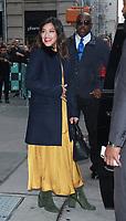 NEW YORK, NY - NOVEMBER 6: Gina Rodriguez seen leaving AOL's Build Series in New York City on November 6, 2017. Credit: RW/MediaPunch /NortePhoto.com