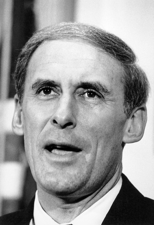 Sen. Dan Coats, R-Ind. on December 25, 1990. (Photo by Andrea Mohin/CQ Roll Call)