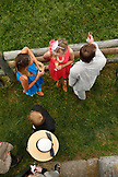 USA, Tennessee, Nashville, Iroquois Steeplechase, spectators track side on raceday